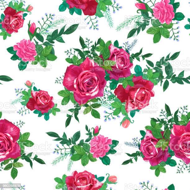 Red pink roses green leaves vector id980258978?b=1&k=6&m=980258978&s=612x612&h=q0baweco1jstgroxn9 ibceut0nx3ujkz2wftkgsjs4=