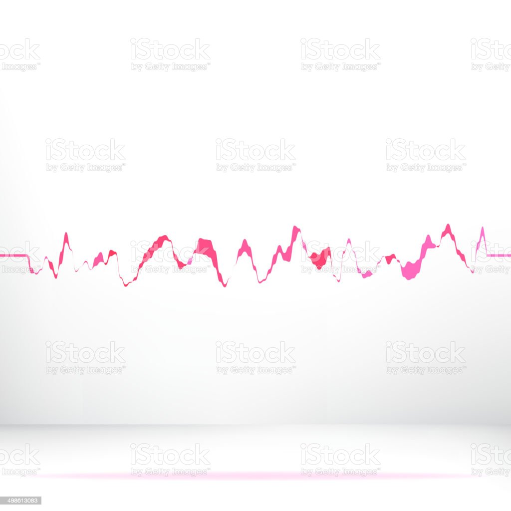 Red pink waveform background.  + EPS8 royalty-free stock vector art