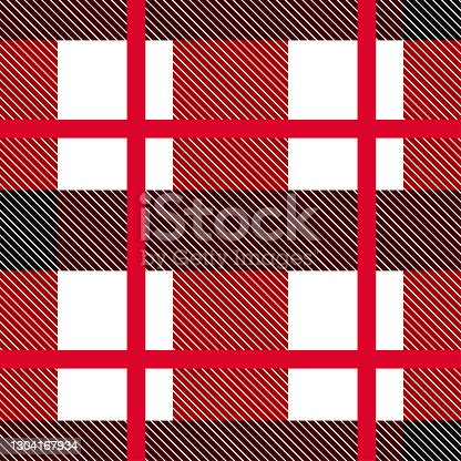 istock Red Plaid, checkered, tartan seamless pattern suitable for fashion textiles and graphics 1304167934