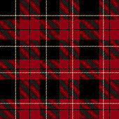 Red plaid pattern vector background art