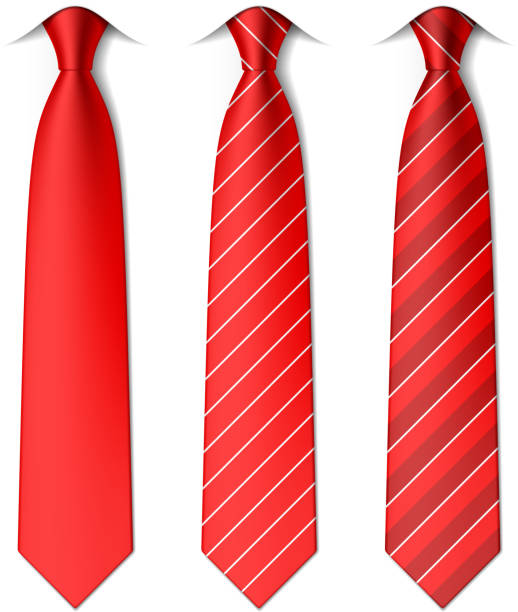 red plain and striped ties - tie stock illustrations, clip art, cartoons, & icons