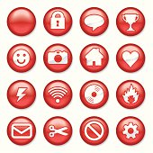 Red Plastic Buttons