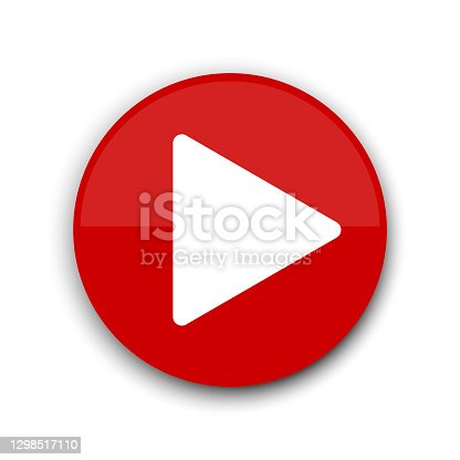 istock Red play button. Website icon symbol. Vector web button. Stock image. EPS 10. 1298517110