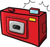 Red pocket camera