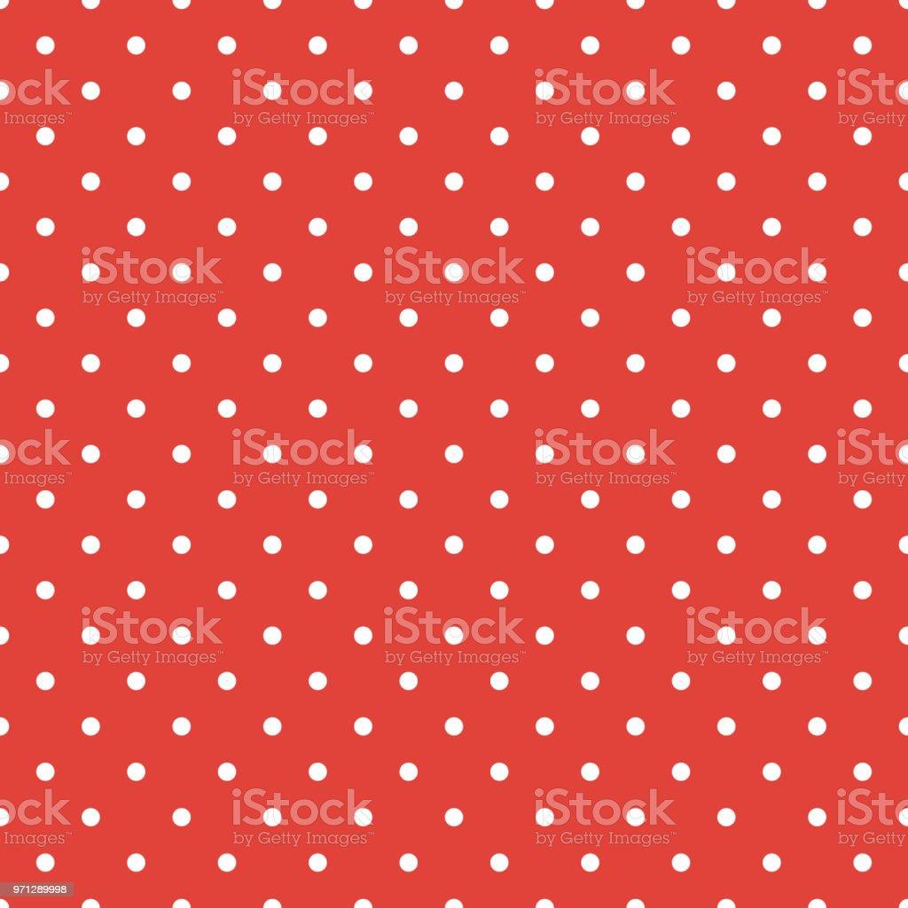 Red polka dot background vector art illustration