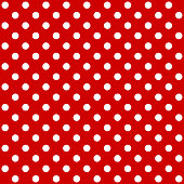 istock Red polka dot pattern. Seamless background. Vector 1193760939