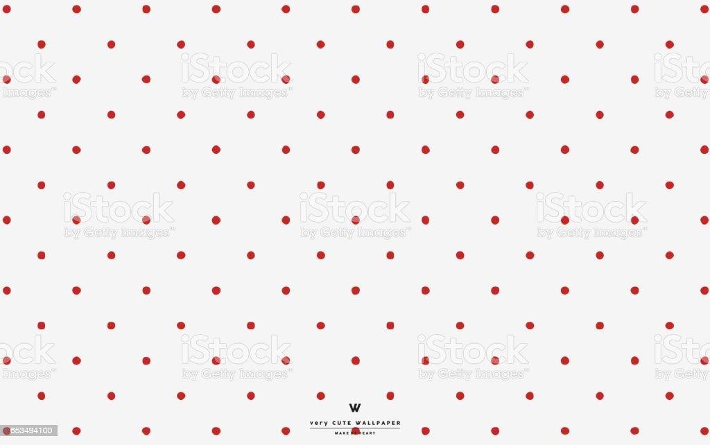 Red Polka Dot White Wallpaper Royalty Free Stock Vector Art