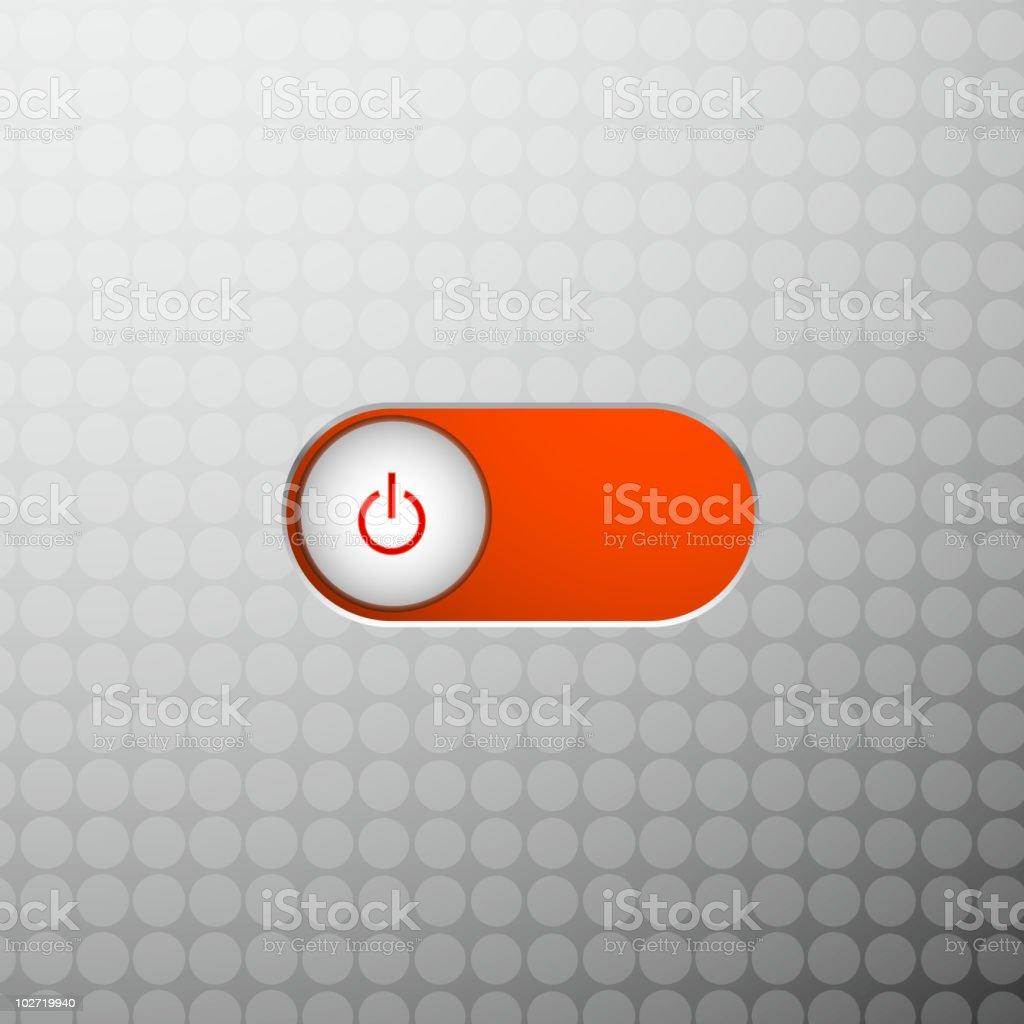 Red power slider royalty-free stock vector art