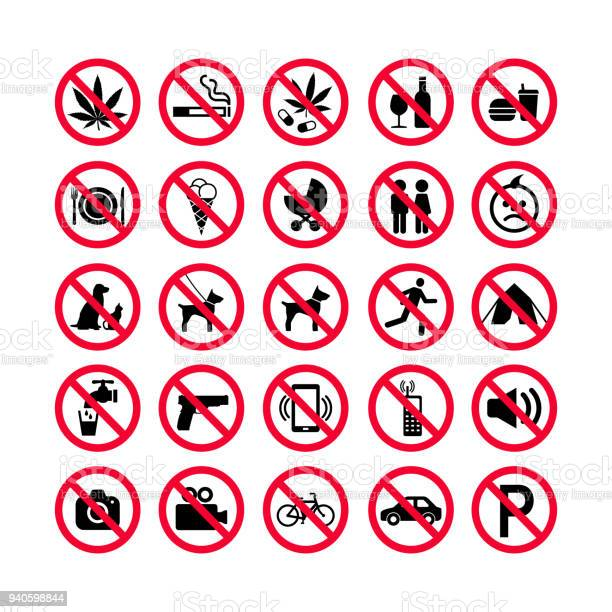 Red prohibition icons set prohibition signs forbidden sign icons red vector id940598844?b=1&k=6&m=940598844&s=612x612&h=23ei77rhswppv8d k4ea5nkgrnrz8kqylh9vcaojfpy=