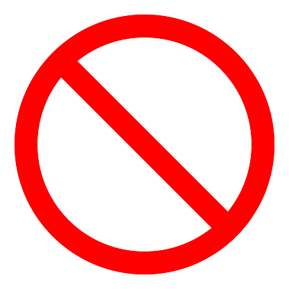 Red Prohibition Sign Not Allow Icon Vector Illustration Stock ...