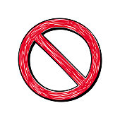 istock Red prohibition sign 1327109489