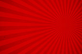 Red rays vector background