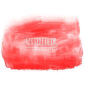 red real watercolor vector stain