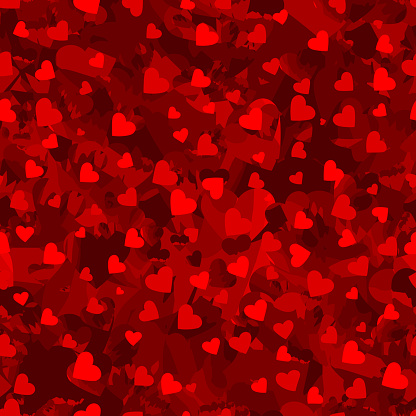 red repetitive background with hearts. marble vector seamless pattern. fabric swatch. wrapping paper. continuous print. saint valentine day. love concept. design element for banner, greeting card
