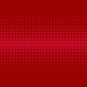 Red retro abstract halftone dot pattern background - vector design from circles in varying sizes