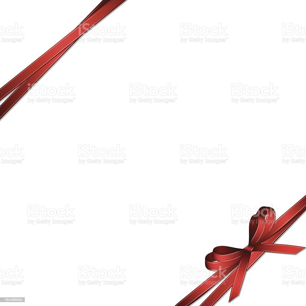 red ribbon and bow background vector art illustration