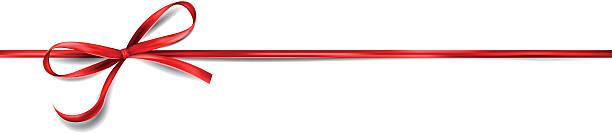 red ribbon bow vector art illustration