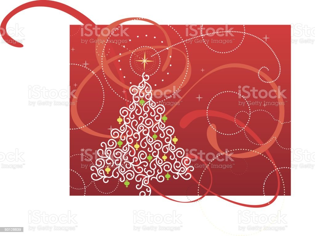 Red Ribbon Christmas Tree Stock Vector Art & More Images