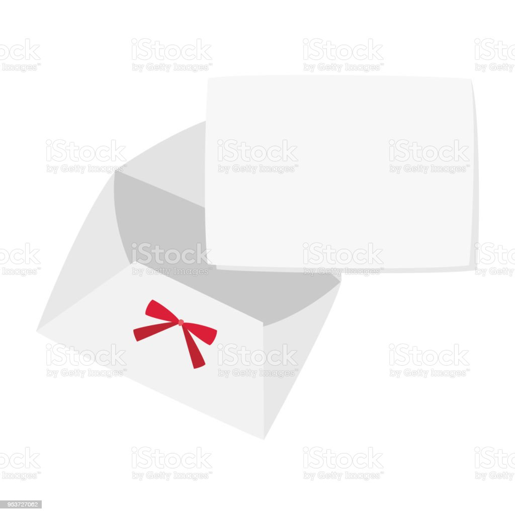Red Ribbon Envelope With Blank Greeting Card Stock Vector Art More