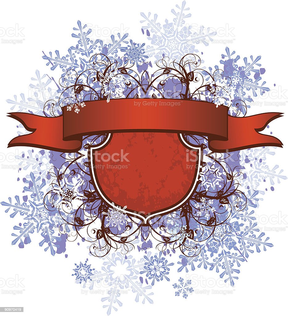 red ribbon & snowflakes royalty-free red ribbon snowflakes stock vector art & more images of abstract