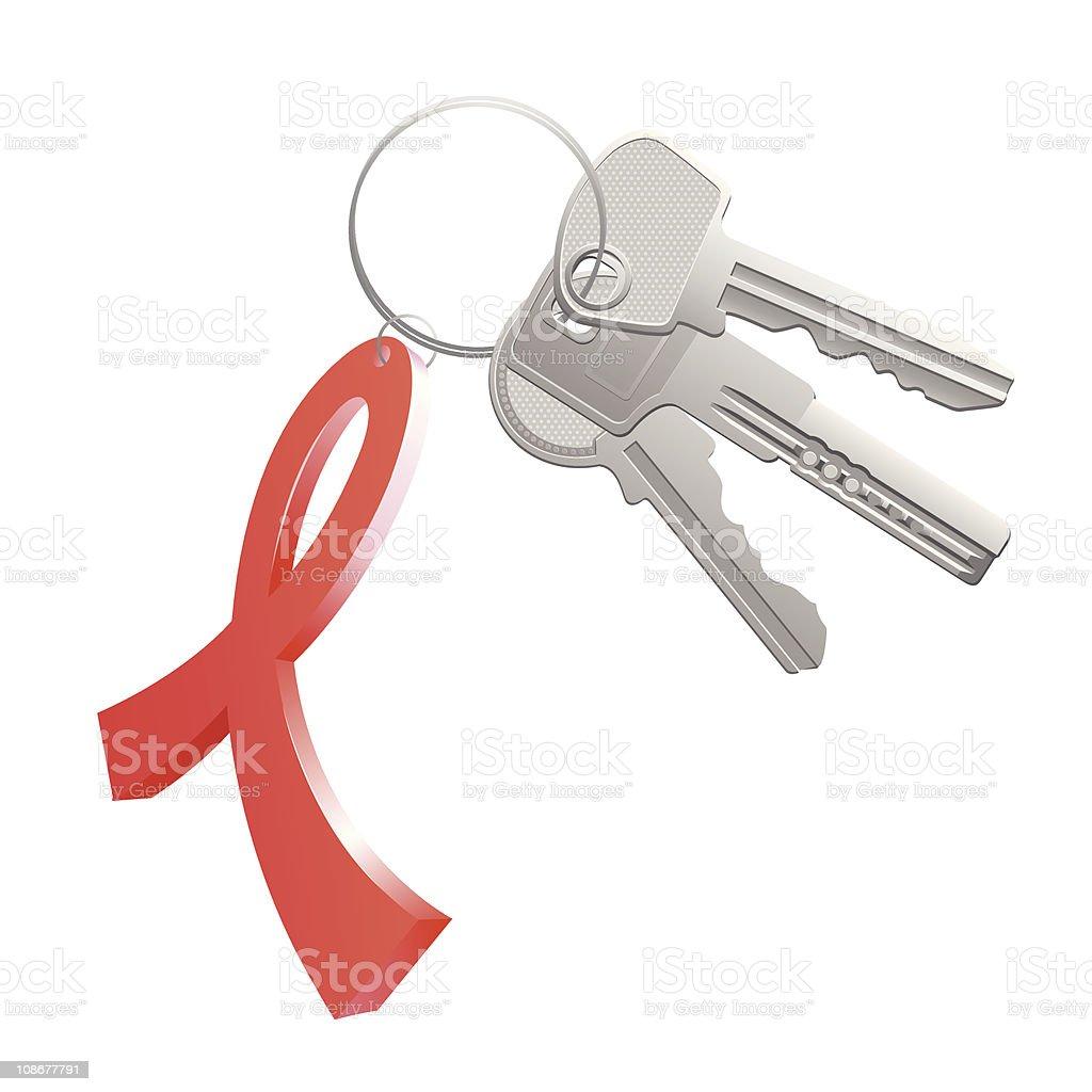 red ribbon trinket 2 royalty-free stock vector art