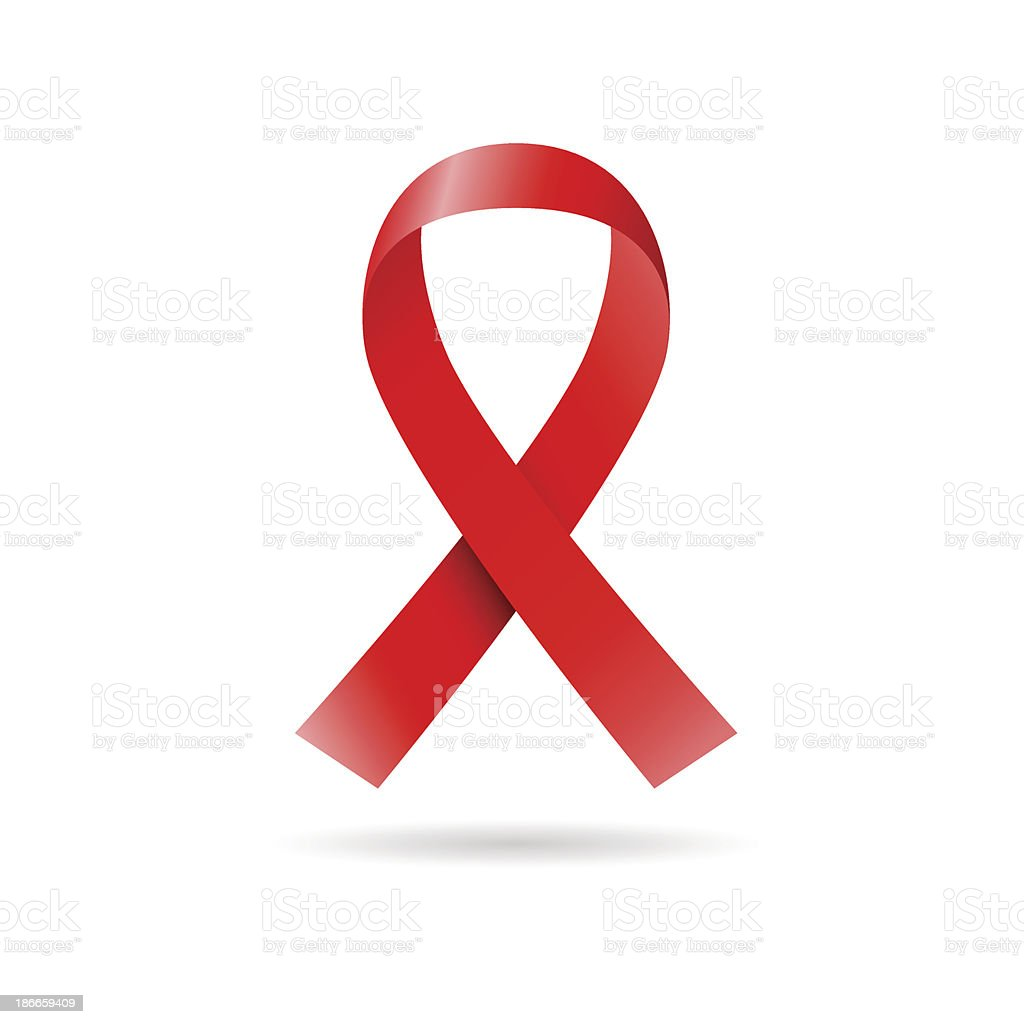 Red ribbon vector art illustration