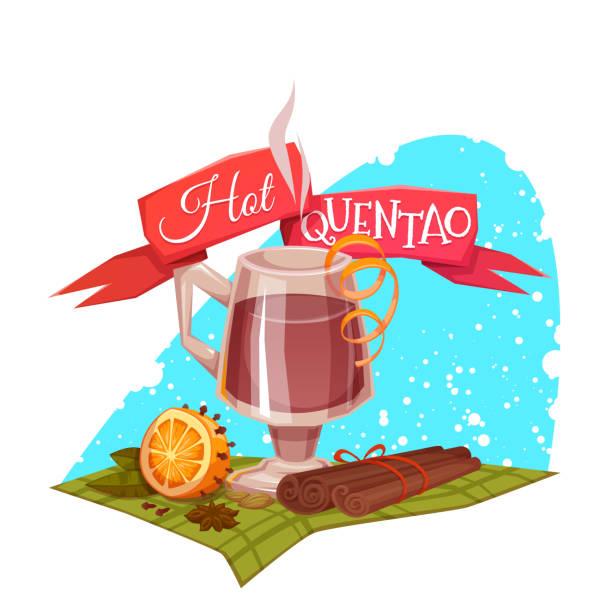 ilustrações de stock, clip art, desenhos animados e ícones de fita vermelha com quente quentao para o brasil junho de parte. vetorial - douro