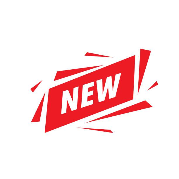 레드 리본에 새로운 비문. 벡터 일러스트 - 새로운 stock illustrations