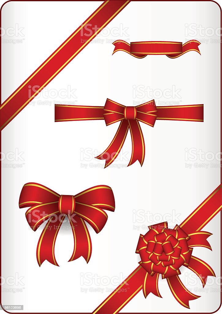 Red ribbons and bows set royalty-free red ribbons and bows set stock vector art & more images of color image
