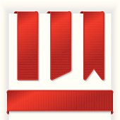 Red ribbons. JPEG version included with download is XXXL (18.6 in. x 18.6 in. at 300 dpi).