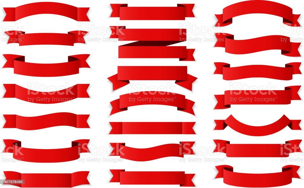 Cintas rojo ilustración de cintas rojo y más vectores libres de derechos de anuncio libre de derechos