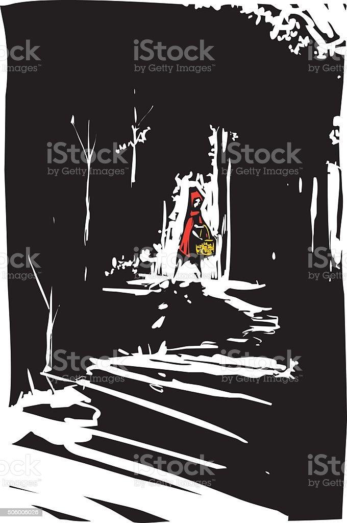 Red riding hood vector art illustration