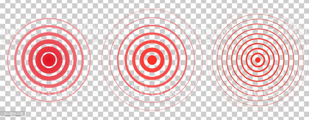Red Rings Pain Circle Symbol Of Pain Red Concentric Stomach Painfor