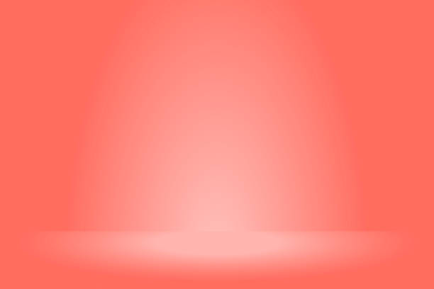 red rose abstract gradient background red rose abstract gradient background with vibrant coral colors and bright spotlight coral colored stock illustrations