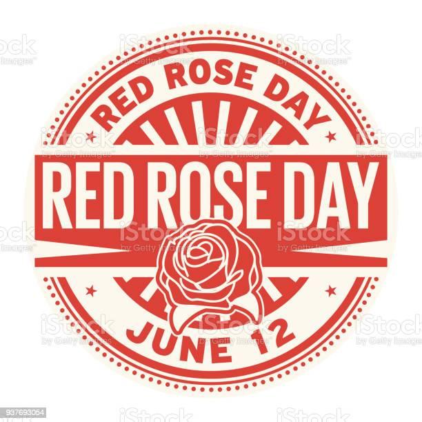 Red rose day stamp vector id937693054?b=1&k=6&m=937693054&s=612x612&h=ss9jihvqbeoiklbfng3e46xno8 iraei pj6cz0ud0m=