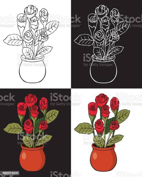 Red rose in pot vector id686918930?b=1&k=6&m=686918930&s=612x612&h=kpz9loie6krscr2mdqy0decilqhflsmiwkh5t s4laa=