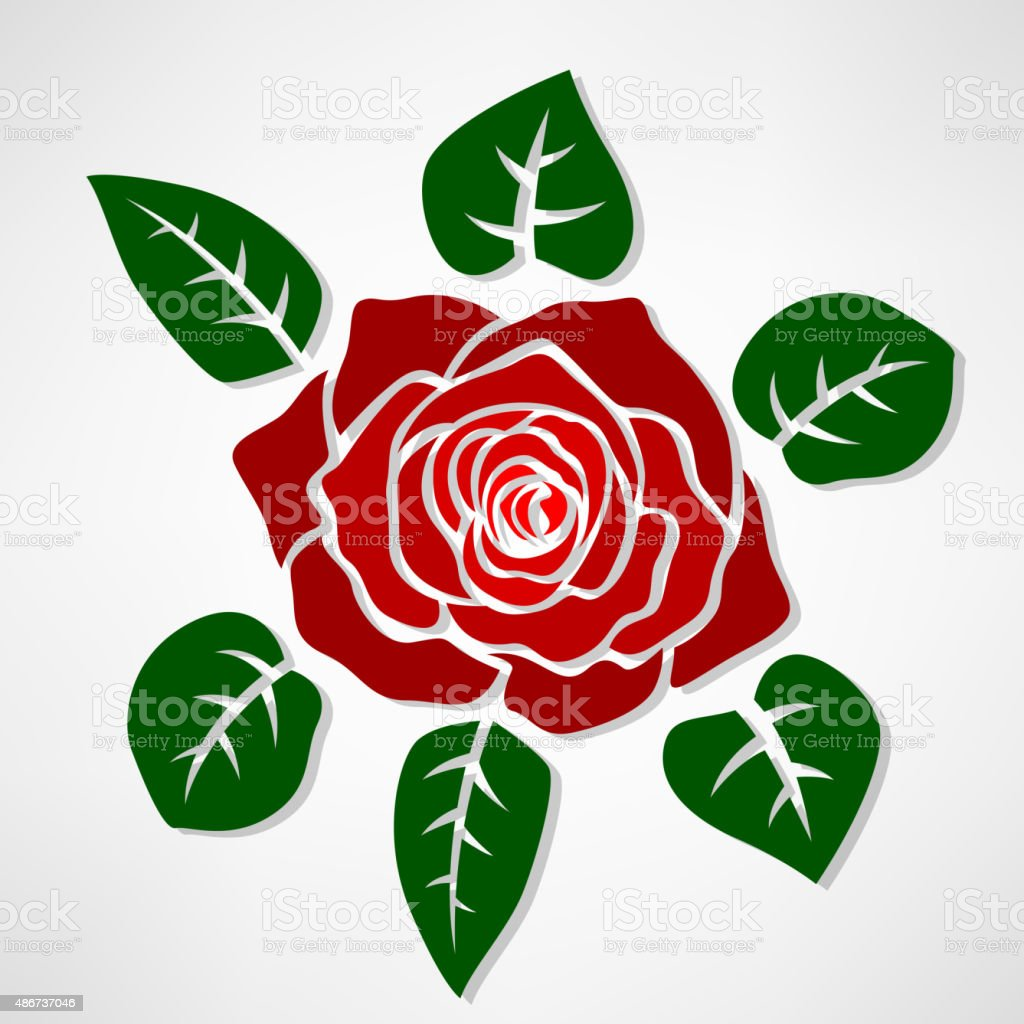Red Rose Symbol Concept Stock Vector Art More Images Of 2015