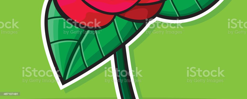 Red rose template card royalty-free stock vector art
