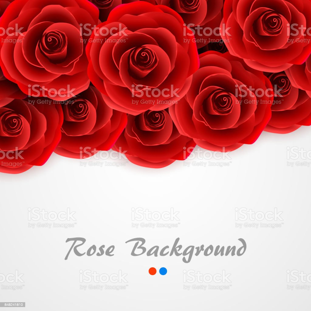 Red Roses Background Rose Cover For Wedding Invitation Postcard Greeting Card Or Valentine