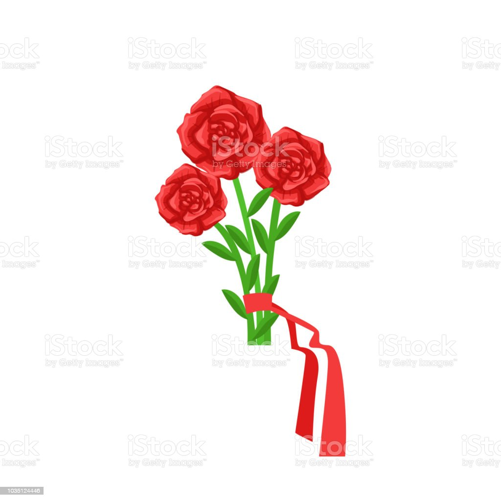 Red roses flower bouquet tied with red ribbon flower shop decorative red roses flower bouquet tied with red ribbon flower shop decorative plants assortment item cartoon izmirmasajfo