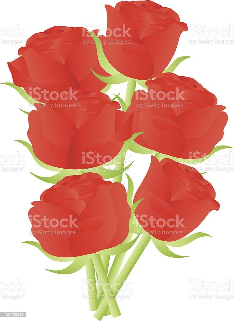 Roses Rouges Illustration Pour La Saintvalentin Cliparts
