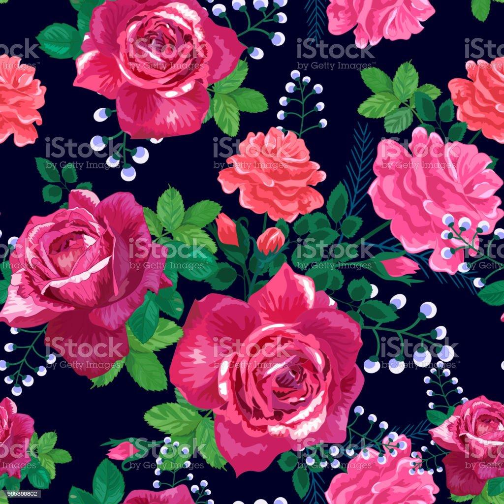 red roses, leaves on a black royalty-free red roses leaves on a black stock vector art & more images of art