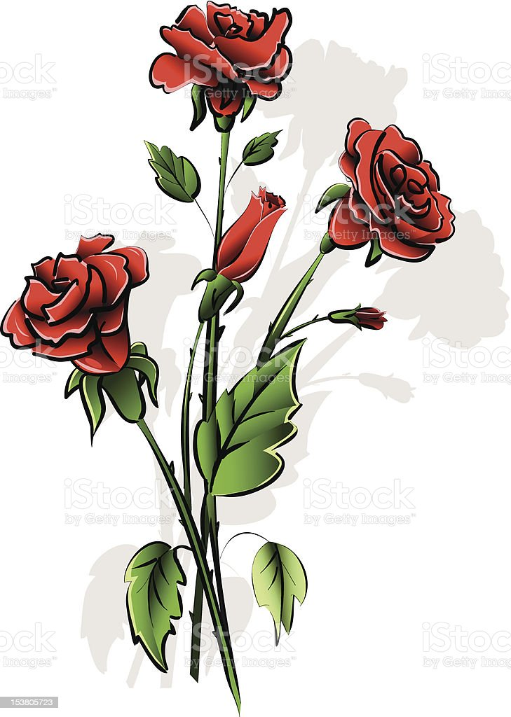 red roses royalty-free stock vector art