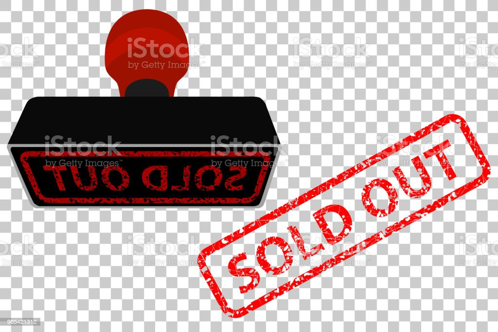 red rubber stamp effect sold out red rubber stamp effect sold out - stockowe grafiki wektorowe i więcej obrazów biznes royalty-free