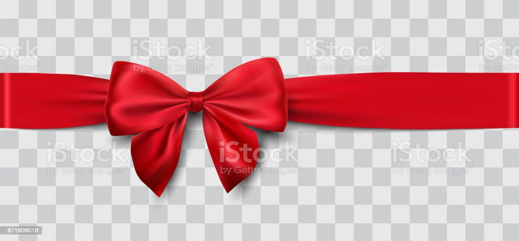 red satin ribbon and bow - Grafika wektorowa royalty-free (Bez ludzi)