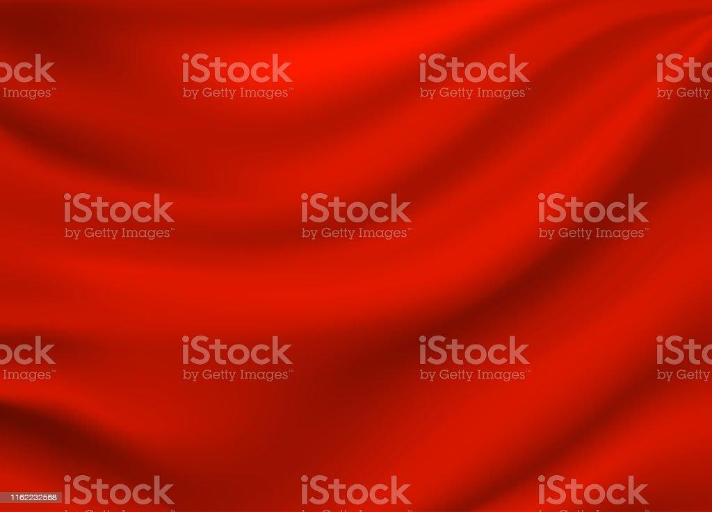 Red satin silk background. Vector - Векторная графика Абстрактный роялти-фри