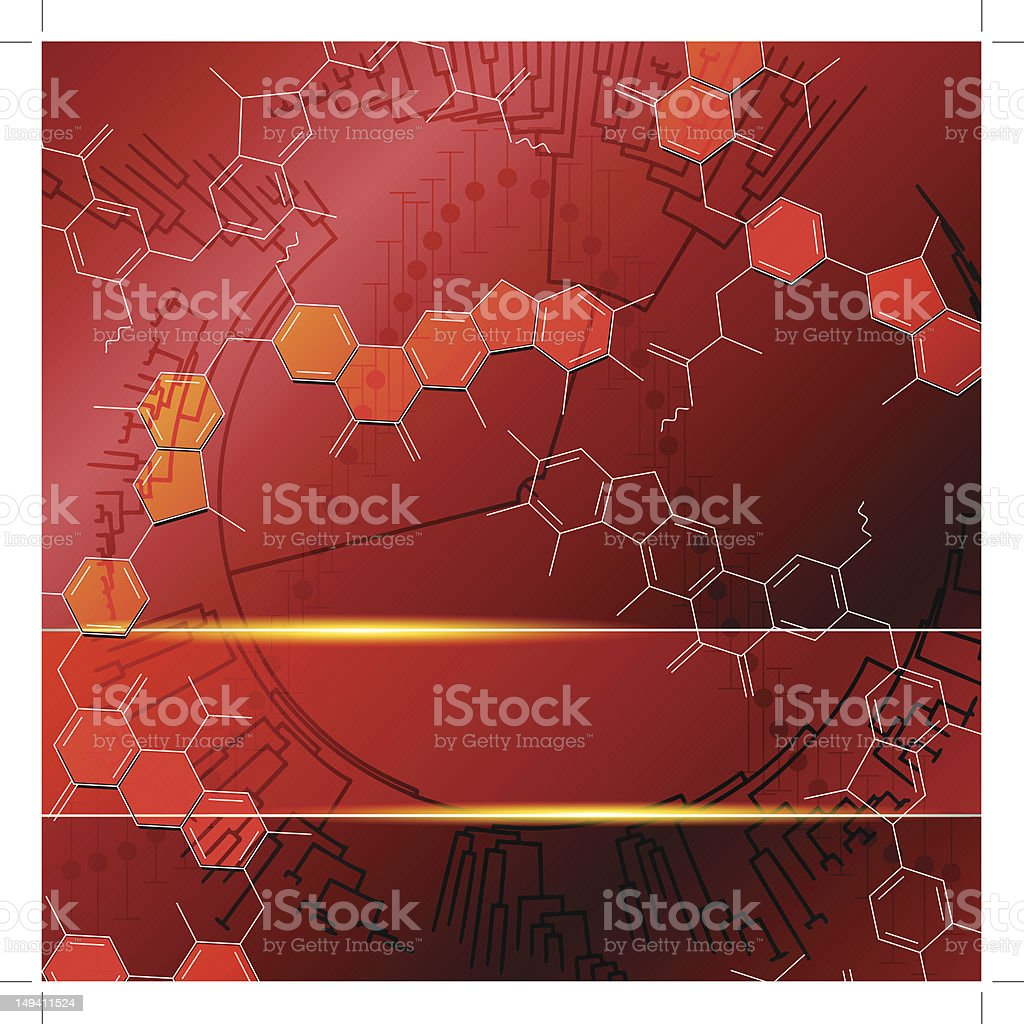 Red science background with molecules royalty-free red science background with molecules stock vector art & more images of atom