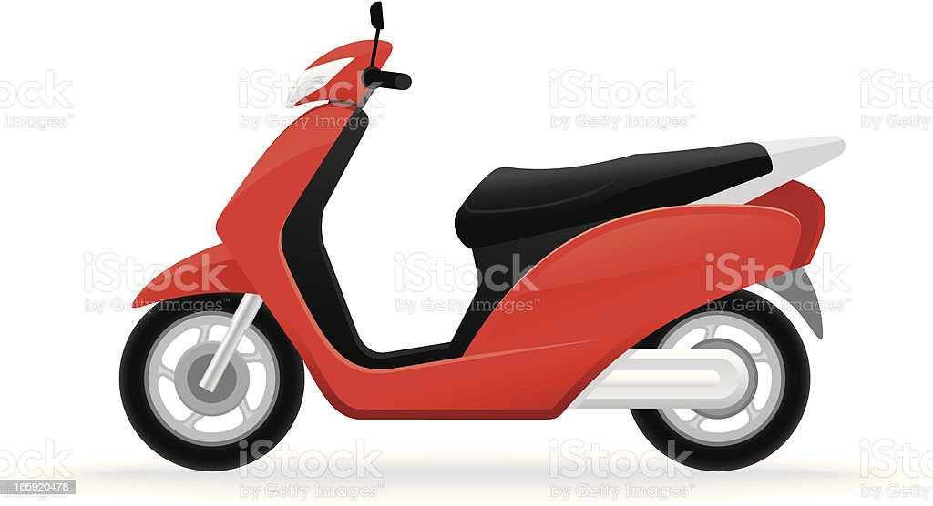 Red scooter royalty-free stock vector art