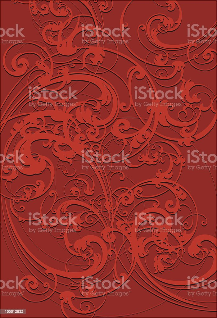 Red Scroll Background royalty-free stock vector art