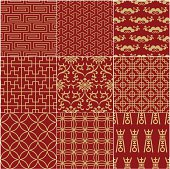 A red seamless Chinese pattern background